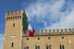 Stadhuis in Ferrara, Italië Stock Afbeelding