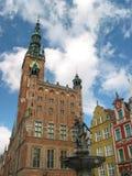 Stadhuis, Gdansk, Polen Stock Afbeeldingen