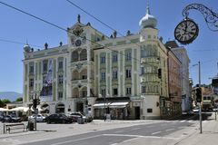 Stadhuis in Gmunden Stock Foto's