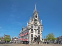 Stadhuis in Gouda, Nederland Stock Afbeelding