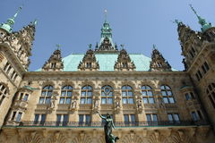 Stadhuis Hamburg Stock Afbeelding