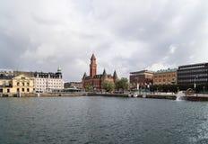 Stadhuis in Helsingborg, Zweden stock afbeeldingen
