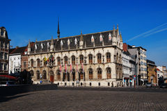 Stadhuis in Kortrijk, België stock afbeelding
