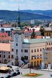 Stadhuis in Kromeriz, Tsjechische Republiek Royalty-vrije Stock Afbeeldingen