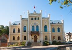 Stadhuis Kuldiga, Letland Stock Foto