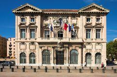 Stadhuis in Marseille Royalty-vrije Stock Fotografie