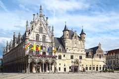 Stadhuis, Mechelen urząd miasta Fotografia Royalty Free
