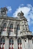 Stadhuis Middelburg - gammalt stadshus i Nederländerna Royaltyfri Fotografi