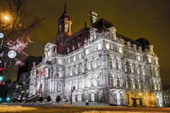 Stadhuis, Montreal Royalty-vrije Stock Foto's