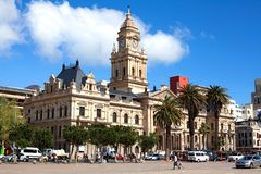 Stadhuis op het Grote Paradevierkant, Cape Town, Zuid-Afrika royalty-vrije stock fotografie