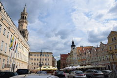 Stadhuis in Opole Stock Afbeelding