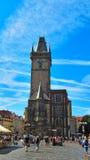 Stadhuis in Oud Stadsvierkant (Praag, Tsjechische Republiek) Royalty-vrije Stock Foto