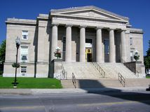 Stadhuis in Plattsburgh, New York Royalty-vrije Stock Afbeelding