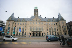 Stadhuis the Rotterdam city hall Royalty Free Stock Photos