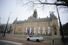 Stadhuis the Rotterdam city hall Royalty Free Stock Photography