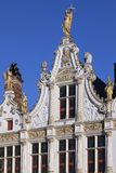 Stadhuis skåpbil Brugge - Bruges - Belgien Royaltyfri Bild