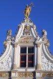 Stadhuis skåpbil Brugge - Bruges - Belgien Fotografering för Bildbyråer