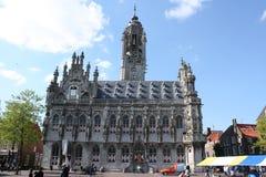 Stadhuis, Stadhuis, van Middelburg Stock Afbeeldingen