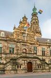 Stadhuis stadshus, Leiden, Nederländerna Royaltyfria Bilder