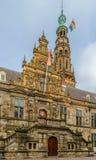 Stadhuis stadshus, Leiden, Nederländerna Arkivbild