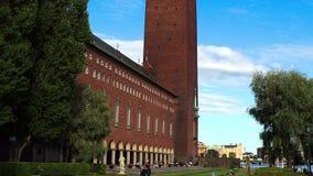 Stadhuis in Stockholm zweden stock footage