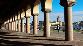 Stadhuis in Stockholm zweden stock videobeelden