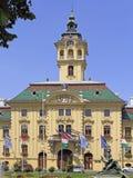 Stadhuis in Szeged, Hongarije royalty-vrije stock afbeelding