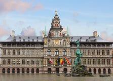 Stadhuis (urząd miasta), Antwerpen Obrazy Stock