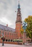 Stadhuis urząd miasta, Leiden, holandie obraz royalty free