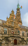 Stadhuis urząd miasta, Leiden, holandie Fotografia Stock