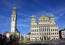 Stadhuis van Augsburg stock fotografie