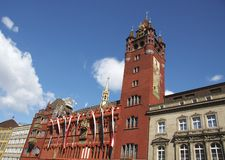 Stadhuis van Bazel Stock Fotografie