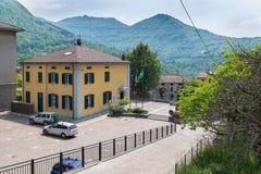 Stadhuis van Esino Lario (913 m), Italië Royalty-vrije Stock Foto