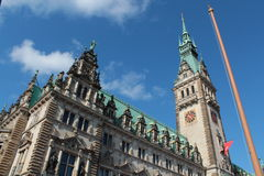 Stadhuis van Hamburg Royalty-vrije Stock Foto's