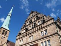 Stadhuis van hamelin, Duitsland Stock Afbeelding