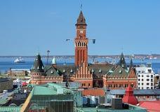 Stadhuis van Helsingborg, Zweden Royalty-vrije Stock Foto's