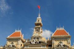 Stadhuis van Ho Chi Minh-stad (Saigon) royalty-vrije stock afbeelding