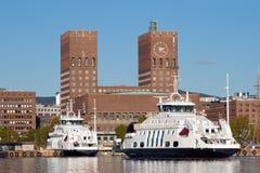 Stadhuis van Oslo, Noorwegen Stock Afbeelding