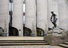 Stadhuis van oude stad zwolle in Nederland royalty-vrije stock afbeelding
