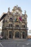 Stadhuis van Pamplona Stock Afbeelding