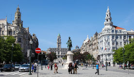 Stadhuis van Porto, Portugal Stock Afbeelding