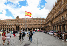 Stadhuis van Salamanca, Spanje Royalty-vrije Stock Fotografie