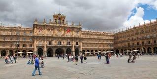 Stadhuis van Salamanca, Spanje Royalty-vrije Stock Afbeeldingen