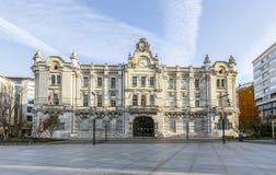 Stadhuis van Santander, Spanje Stock Foto's