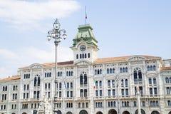 Stadhuis van Tri?st stock afbeelding