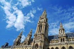 Stadhuis van Wenen, Oostenrijk Stock Foto's