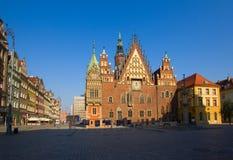 Stadhuis van Wroclaw, Polen Stock Afbeeldingen