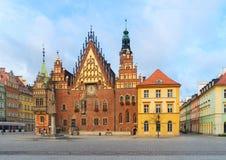 Stadhuis van Wroclaw, Polen stock fotografie