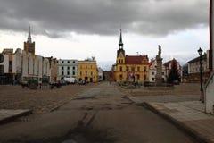 stadhuis in Vidnava-stad stock foto's