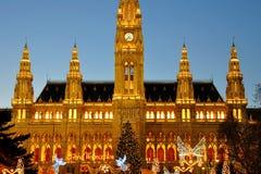 Stadhuis in Wien stock foto's